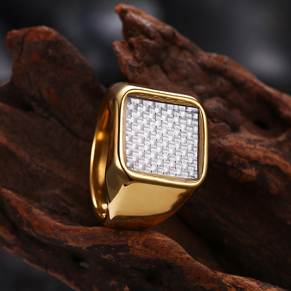 Gold Plated Square Ring