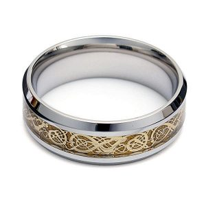 Gold Titanium Steel Ring