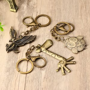 Metal Animal Keychain